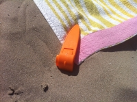 life's a beach for the beach towel clip