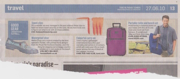 The Sunday Times Travel Section Sunday June 27th 2010