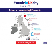 Join us in celebrating the very first #madeinukday on March 9th 2021