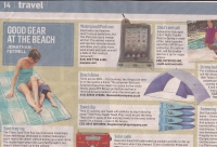 Branded beach towel clips make the Sunday Times
